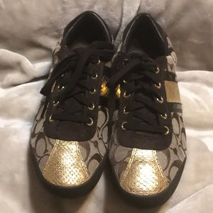 Classic Gold-tone Coach Sneakers!